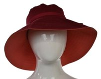 Banana Republic Banana Republic Womens Red Solid Sun Hat Sm Cotton Casual