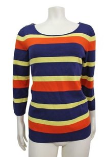 Banana Republic Striped Button Sweater