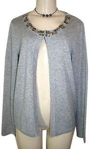 Banana Republic Gem Embellished Collar Wool Blend Cardigan Sweater