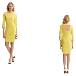 Banana Republic short dress Pastel Yellow Cut-out Breathable on Tradesy