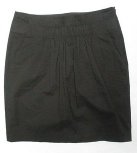 Banana Republic Cotton Skirt Black
