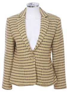 Barneys New York Floral Colorful Bright Young Gold Blazer