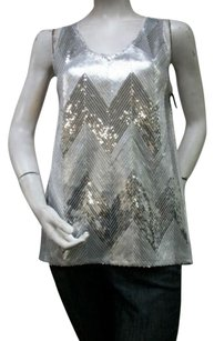 BB Dakota Zig Zag Sequined Top Gray