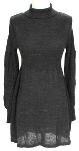 BB Dakota short dress Dark Grey Longsleeve Wool Turtleneck on Tradesy