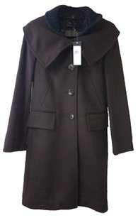 BCBG Paris W/collar Wool Trench Coat