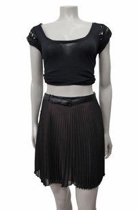 BCBGeneration Accordion Skirt Black