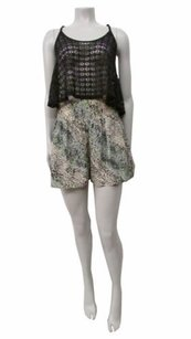 BCBGeneration B Tlime Multi Speckle Print Flowy High Waist Shorts Multi-Color
