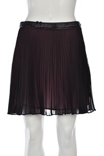 BCBGeneration Womens Pleated Above Knee Casual Polyester Skirt Black