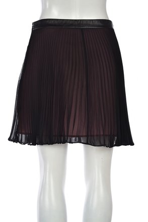 7e7e2ad74c chic BCBGeneration Bcbgeneration Womens Black Pleated Skirt Above Knee  Casual Polyester