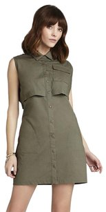 BCBGeneration short dress Dark Gray Moss Shirt Cropped on Tradesy