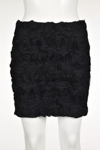 BCBGeneration Womens Floral Straight Above Knee Formal Skirt Black