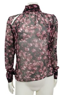 BCBGeneration Floral Print Top Crushed Berry