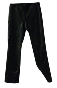 BCBGMAXAZRIA Leather Lined Straight Pants Black