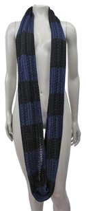 BCBGMAXAZRIA Bcbg Maxazria Color Blocked Striped Infinity Scarf Navy Black