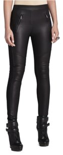 BCBGMAXAZRIA Bcbg Moto Fashion Black Leggings