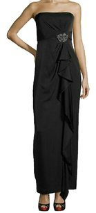 BCBGMAXAZRIA Gown Strapless Ruffle Dress