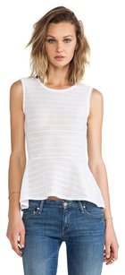 BCBGMAXAZRIA Lace Peplum Top White