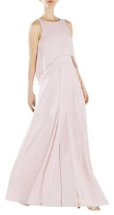 Pink Maxi Dress by BCBGMAXAZRIA Runway Light Sabrenna Silk Chiffon Crepe Maxi Gown 0xs
