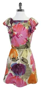 BCBGMAXAZRIA short dress Multi Color Tie Waist on Tradesy