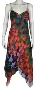 BCBGMAXAZRIA Womens Floral Casual Sleeveless Sheath Dress
