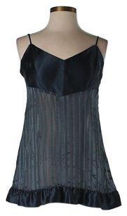 BCBGMAXAZRIA Sheer Pleated Top Blue