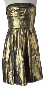 BCBGMAXAZRIA Sleeveless Metallic Dress