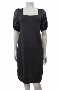 BCBGMAXAZRIA short dress Black Bcbg Maxazria Satin on Tradesy