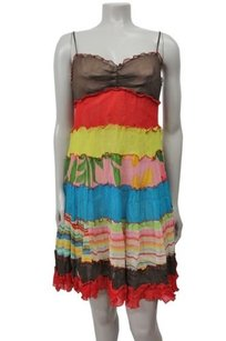 BCBGMAXAZRIA Silk Gauze Tiered Ppf62919 Dress