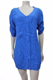 BCBGMAXAZRIA short dress Blue Rosetta Tunic Roll Sleeves on Tradesy