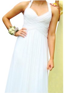 BCBGMAXAZRIA White Face Formal Prom Fitted Dress
