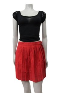 BDG Accordion Pleated Skirt Red