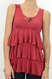 bebe Minervas Slub Top Red