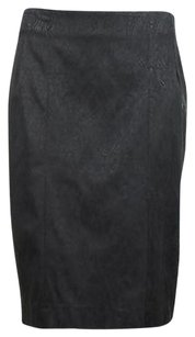 bebe Womens Printed Skirt Black