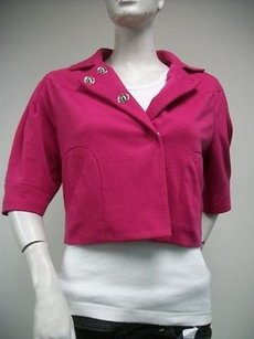 Becky & Max Becky Max Fushia Pink Cropped Jacket Blazer Style Gg913d
