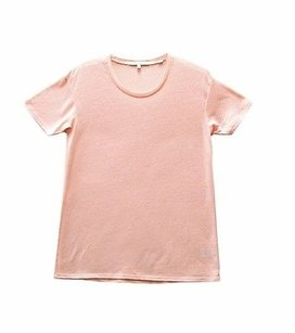 Bella Luxx Linen Blend T Shirt papaya
