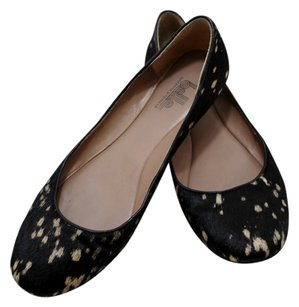 Belle by Sigerson Morrison Horse Hair Spots Cute Fun Black Flats