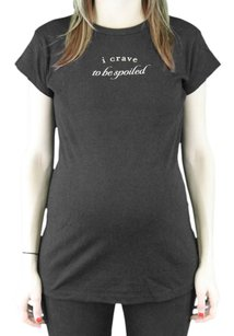 Belly Cravings Maternity Womens Bellycravings_black_spoiled Top