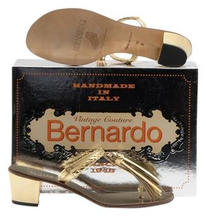 Bernardo Vintage Couture Gold Sandals