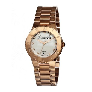 Bertha Millicent White Mother of Pearl Dial Rose Gold-tone Ladies Watch