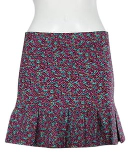Betsey Johnson Womens Floral Above Knee Casual Skirt Magenta