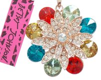 Betsey Johnson Betsey Johnson Colorful Crystal Flower Pendant Necklace