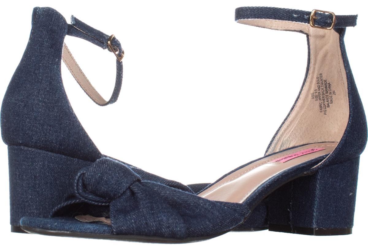 Betsey Johnson Blue Ivee Ankle Strap Sandals 070 Navy Pumps Size US 9.5 Regular (M, B)