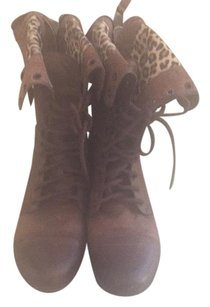 Betsey Johnson Folded Brown Boots