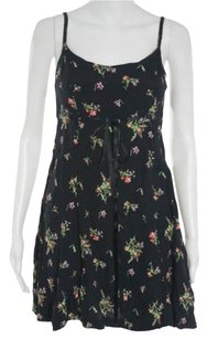 Betsey Johnson short dress black floral on Tradesy