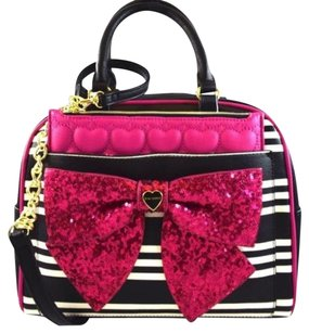 Betsey Johnson Pouch Dome Satchel in Black
