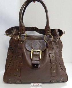 Betsey Johnson Tumbled Satchel in Brown