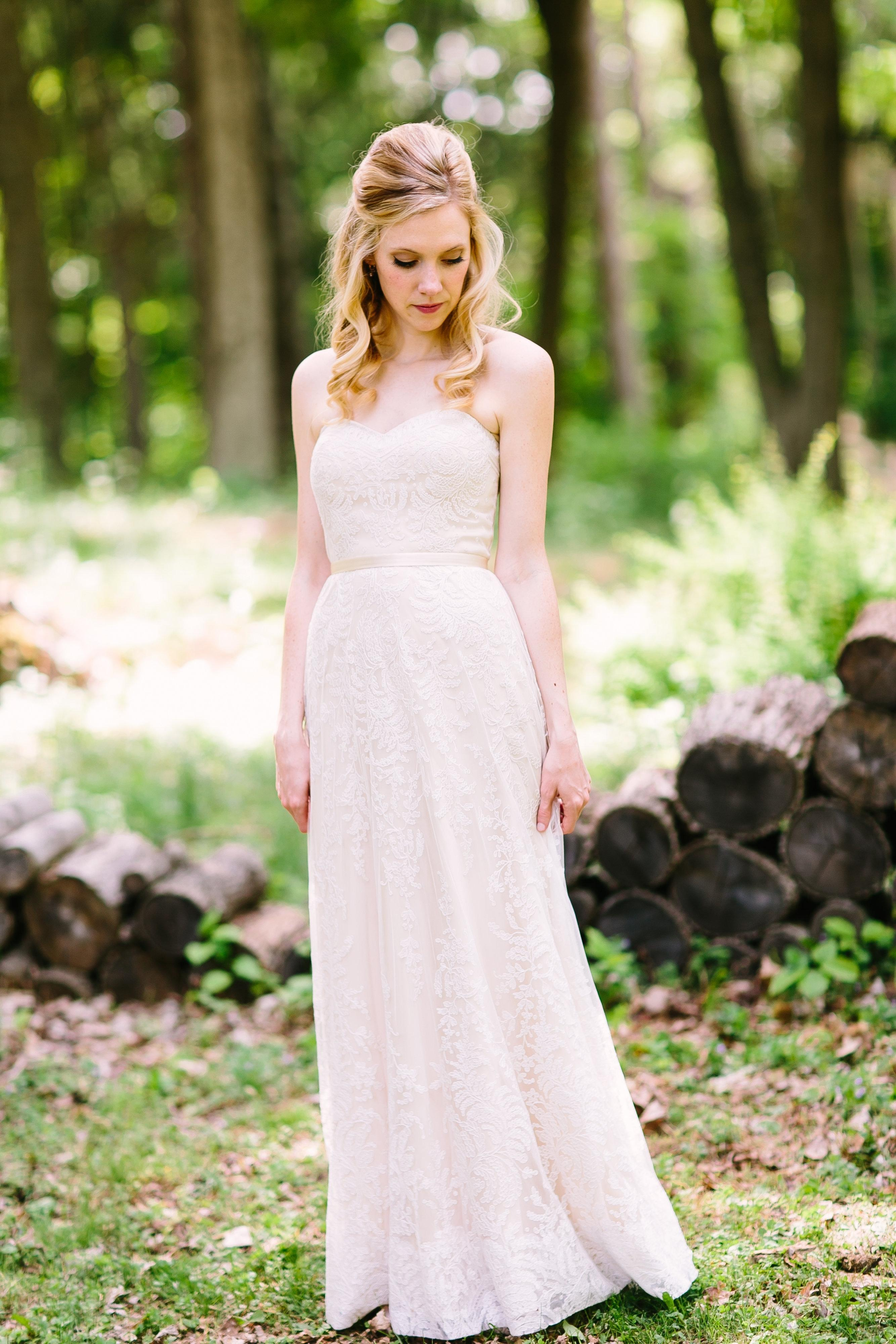 Champagne Lace Wedding Gown