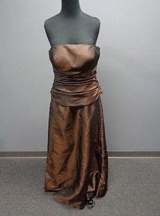 Brown Maxi Dress by Bill Levkoff Poly Lined Strapless Two Piece Formal Sma8742