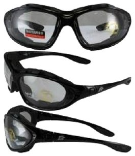 Birdz Eyewear Birdz Thrasher Motorcycle Glasses-Convert-to-Goggles with Clear Shatterproof Anti-Fog Polycarbonate Lenses and Wind Blocking Foam