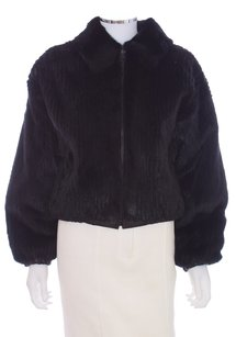 bisa Mink Leather Reversible Fur Coat